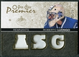 2007/08 Upper Deck OPC Premier Remnants Triples Patches #PRRL Roberto Luongo /35