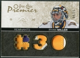 2007/08 Upper Deck OPC Premier Remnants Triples Patches #PRRM Ryan Miller /35