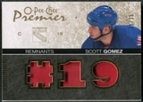 2007/08 Upper Deck OPC Premier Remnants Triples Patches #PRSG Scott Gomez /35