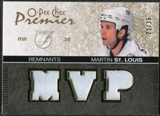 2007/08 Upper Deck OPC Premier Remnants Triples Patches #PRST Martin St. Louis /35