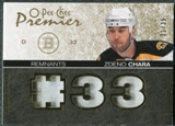 2007/08 Upper Deck OPC Premier Remnants Triples Patches #PRZC Zdeno Chara /35