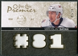 2007/08 Upper Deck OPC Premier Remnants Triples Patches #PRSM Miroslav Satan /35