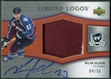 2005/06 Upper Deck The Cup Limited Logos #LLHJ Milan Hejduk Autograph Patch 4/50