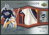 2005/06 Upper Deck The Cup Limited Logos #LLTV Tomas Vokoun Autograph /50