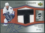 2005/06 Upper Deck The Cup Limited Logos #LLTB Todd Bertuzzi Autograph /50