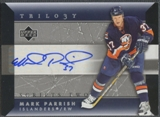 2005/06 Upper Deck Trilogy #SCSMP Mark Parrish Scripts Auto