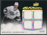 2009/10 Upper Deck UD Black Jerseys Black Ice #QJWG Wayne Gretzky /50