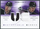 2001/02 Upper Deck UD Challenge for the Cup Jerseys #UCPD Zigmund Palffy Adam Deadmarsh