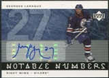 2005/06 Upper Deck Notable Numbers #NGL Georges Laraque Autograph /27