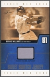 2003 Flair #BWSSJ Bernie Williams Sweet Swatch Jumbo Jersey #0961/1420