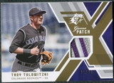2009 Upper Deck SPx Game Patch #GJTT Troy Tulowitzki /99