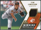 2009 Upper Deck SPx Winning Materials Patch #WMTL Tim Lincecum /99