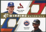2009 Upper Deck SPx Winning Materials Dual #GR Khalil Greene Jose Reyes