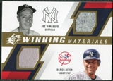 2009 Upper Deck SPx Winning Materials Dual #JD Joe DiMaggio Derek Jeter