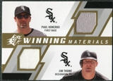 2009 Upper Deck SPx Winning Materials Dual #KT Paul Konerko Jim Thome