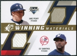 2009 Upper Deck SPx Winning Materials Dual #PS Jake Peavy CC Sabathia