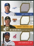 2009 Upper Deck SPx Winning Materials Triple #KSB Jeff Kent Freddy Sanchez Josh Barfield