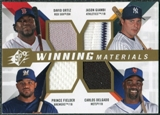 2009 Upper Deck SPx Winning Materials Quad #OGDF David Ortiz/Jason Giambi/Carlos Delgado/Prince Fielder