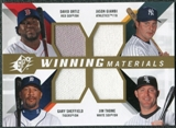 2009 Upper Deck SPx Winning Materials Quad #OGTS David Ortiz/Jason Giambi/Jim Thome/Gary Sheffield