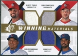 2009 Upper Deck SPx Winning Materials Quad #PCLZ Albert Pujols/Chris Carpenter/Derrek Lee/Carlos Zambrano