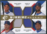 2009 Upper Deck SPx Winning Materials Quad #RLZW Aramis Ramirez/Derrek Lee/Carlos Zambrano/Kerry Wood