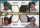 2009 Upper Deck SPx Winning Materials Quad #RUJC Hanley Ramirez/Dan Uggla/Derek Jeter/Robinson Cano