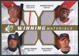 2009 Upper Deck SPx Winning Materials Quad #UPRI Chase Utley Brandon Phillips Brian Roberts Akinori Iwamura