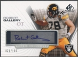 2004 SP Game Used Edition #RERG Robert Gallery Rookie Exclusives Auto #021/100