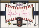 2003 Sweet Spot Classics #SL Sparky Lyle Yankee Greats Red Ink Auto #24/25