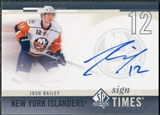 2010/11 Upper Deck SP Authentic Sign of the Times #SOTBA Josh Bailey Autograph