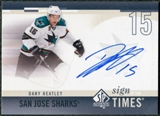 2010/11 Upper Deck SP Authentic Sign of the Times #SOTDH Dany Heatley Autograph