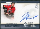 2010/11 Upper Deck SP Authentic Sign of the Times #SOTJA Jay Bouwmeester Autograph