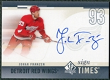 2010/11 Upper Deck SP Authentic Sign of the Times #SOTJF Johan Franzen Autograph