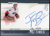2010/11 Upper Deck SP Authentic Sign of the Times #SOTJM Jamie McBain Autograph