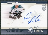 2010/11 Upper Deck SP Authentic Sign of the Times #SOTJP Joe Pavelski Autograph