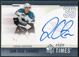 2010/11 Upper Deck SP Authentic Sign of the Times #SOTLC Logan Couture Autograph