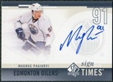 2010/11 Upper Deck SP Authentic Sign of the Times #SOTMP Magnus Paajarvi Autograph