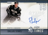 2010/11 Upper Deck SP Authentic Sign of the Times #SOTPL Perttu Lindgren Autograph