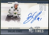 2010/11 Upper Deck SP Authentic Sign of the Times #SOTRI Brad Richards Autograph