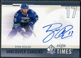 2010/11 Upper Deck SP Authentic Sign of the Times #SOTRK Ryan Kesler Autograph