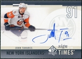 2010/11 Upper Deck SP Authentic Sign of the Times #SOTTA John Tavares Autograph