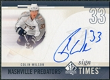 2010/11 Upper Deck SP Authentic Sign of the Times #SOTWI Colin Wilson Autograph