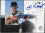 2000 Upper Deck SP Authentic Chirography #BP Ben Petrick Autograph
