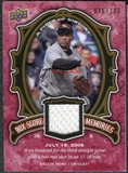2009 Upper Deck UD A Piece of History Box Score Memories Jersey Red #BSMMM Melvin Mora /180