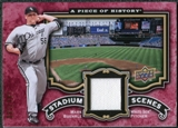 2009 Upper Deck UD A Piece of History Stadium Scenes Jersey Red #SSMB Mark Buehrle /180
