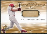 2001 Upper Deck SP Game Bat Edition Piece of the Game #JD J.D. Drew