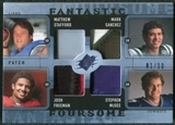 2009 Upper Deck SPx Fantastic Foursome Patch #RQB Matthew Stafford Stephen McGee Mark Sanchez Josh Freeman /10