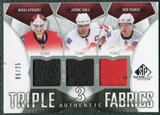 2009/10 Upper Deck SP Game Used Authentic Fabrics Triples #AF3IKP Iginla Kiprusoff Phaneuf /25