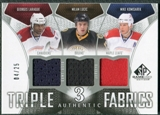 2009/10 Upper Deck SP Game Used Authentic Fabrics Triples #AF3DROP Laraque Komisarek Lucic /25