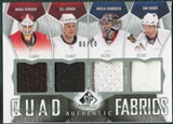 2009/10 Upper Deck SP Game Used Authentic Fabrics Quads #AF4JKKG Jokinen Kiprusoff Khabibulin Gagner 6/10